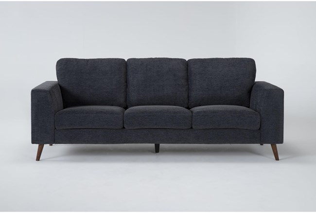 "Casper Charcoal Blue 88"" Sofa - 360"