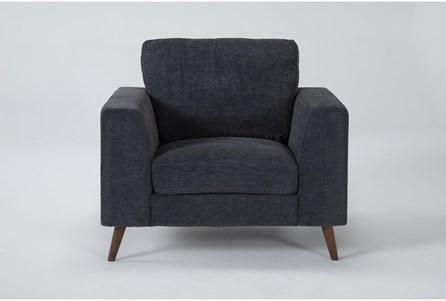 Casper Charcoal Blue Chair - Main