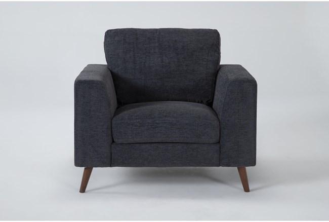 Casper Charcoal Blue Chair - 360