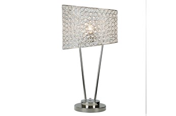 26 Inch Crystal Table Lamp
