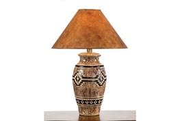 29 Inch Desert Sand Hydrocal Table Lamp