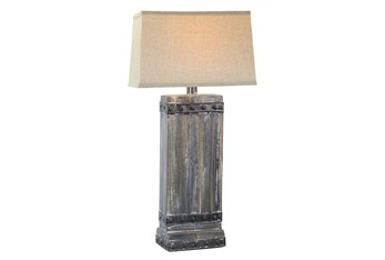 30 Inch Rustic Grey Wash Table Lamp