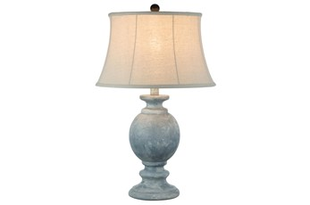 29 Inch Light Blue Hydrocal Table Lamp