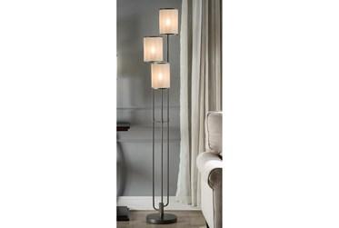 60 Inch Taupe Three Shade Floor Lamp