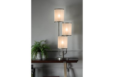 31 Inch Taupe Three Shade Table Lamp