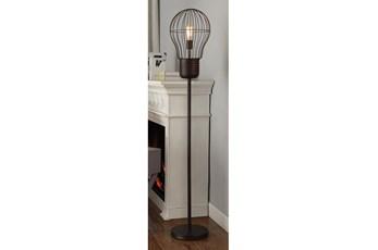 65 Inch Birdcage Bulb Shade Floor Lamp