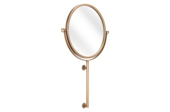 19X30 Round Gold Mirror With Slight Tilt