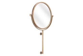19X30 Round Gold Mirror With Slight Tilt