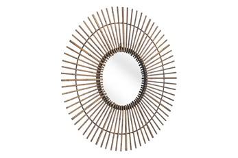 32 Inch Round Gold Mirror