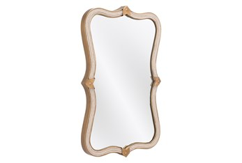 20X32 Gold Mirror With Rope Frame Detail