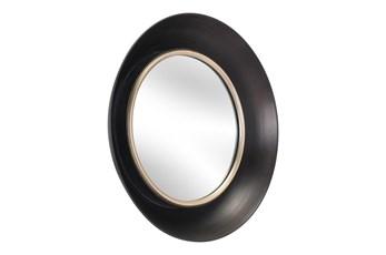19 Inch Round Black Mirror