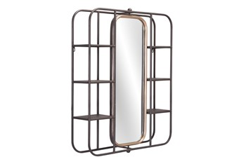 28X33 Mirror With Shelves