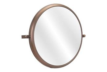 24X20 Round Gold Mirror