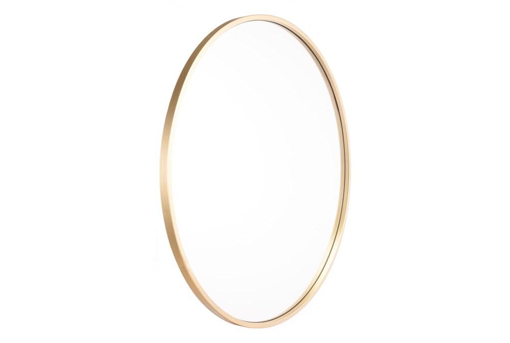 24 Inch Round Eye Mirror Gold