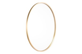 24 Inch Round Eye Mirror Gold