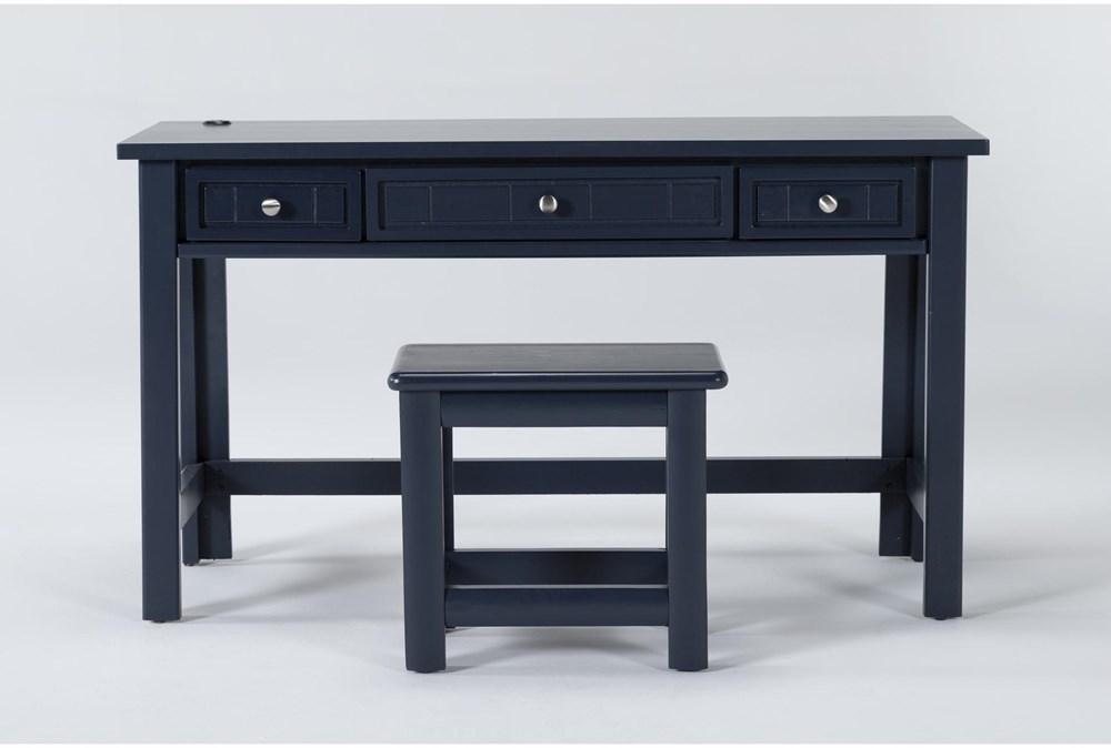 Mateo Blue Desk/Bench