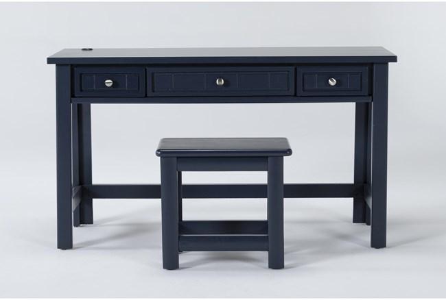 Mateo Blue Desk/Bench - 360