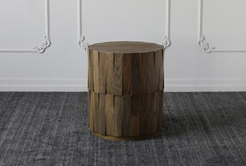 Weathered Elm Accent Table