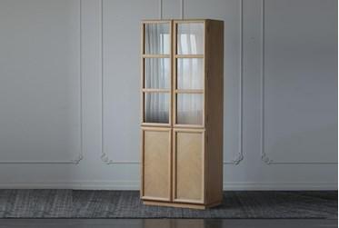 Weathered Oak 4 Door Tall Cabinet