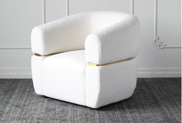 White Sherpa Accent Chair