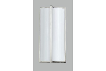 3.5X12 Inch Brushed Steel Wall Lamp
