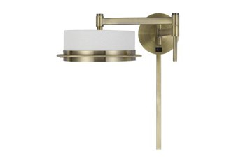 20 Inch Gold Swing Arm Wall Lamp