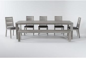 Sandi 7 Piece Dining Set With Bench