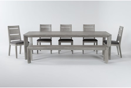 Sandi 7 Piece Dining Set With Bench - Main
