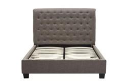 Upholstered Grey Tufted California King Platform Bed