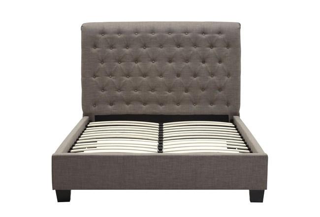 Upholstered Grey Tufted Eastern King Platform Bed - 360