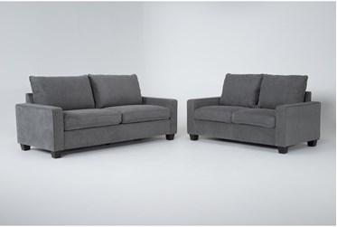 Reid Grey 2 Piece Living Room Set