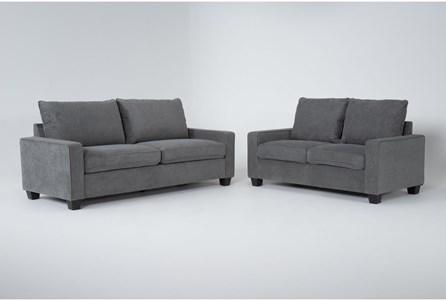 Reid Grey 2 Piece Living Room Set - Main