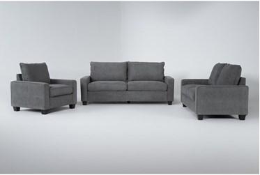 Reid Grey 3 Piece Living Room Set