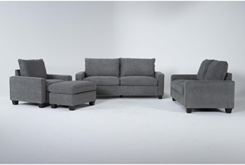 Reid Grey 4 Piece Living Room Set