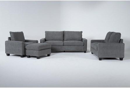 Reid Grey 4 Piece Living Room Set - Main