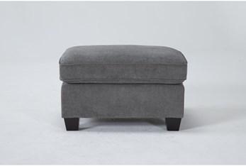 Reid Grey Ottoman