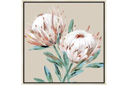 Picture-Big Blooms With Birch Frame 26X26