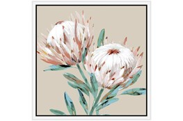 Picture-Big Blooms With White Frame 26X26
