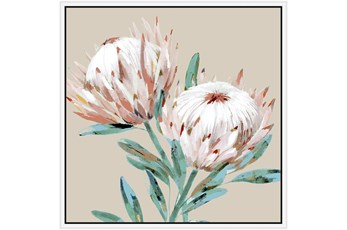 Picture-Big Blooms With White Frame 38X38