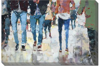 Picture-Hustle And Bustle Gallery Wrap Canvas 36X24