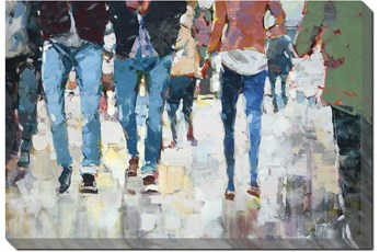 Picture-Hustle And Bustle Gallery Wrap Canvas 54X36