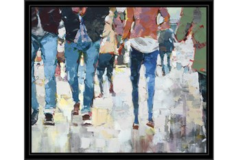 26X22 Hustle And Bustle With Black Frame
