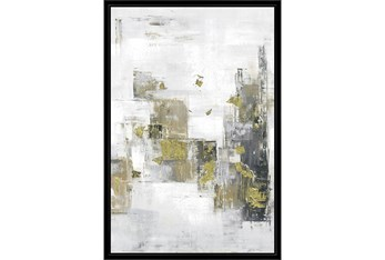 38X26 Hustle And Bustle With Black Frame
