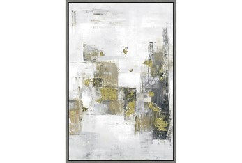 38X26 Hustle And Bustle With Grey Frame