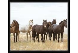 26X22 Wild Horses With Black Frame