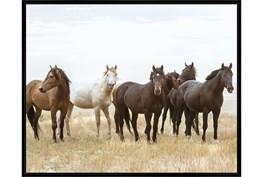 52X42 Wild Horses With Black Frame