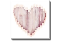 Picture-Swipe Heart Gallery Wrap Canvas 24X24