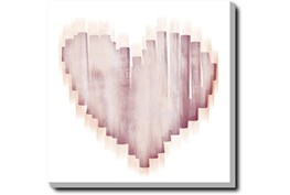24X24 Swipe Heart With Gallery Wrap Canvas