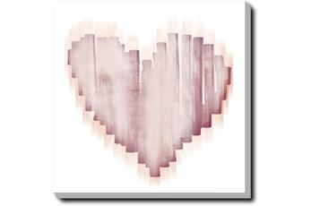 Picture-Swipe Heart Gallery Wrap Canvas 24X24