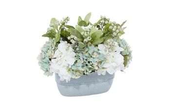 """13"""" Artificial Hydrangea In Ceramic Vase"""
